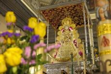 La Virgen del Rocío en su paso